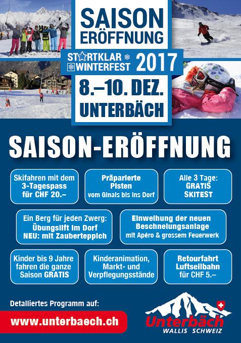 Saisoneroeffnung Unterbäch 2017/18