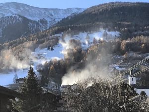Neue Beschneiungsanlage im Brand in Betrieb