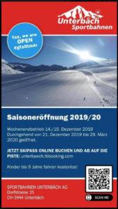 Saisoneroeffnung Unterbäch 2019/20